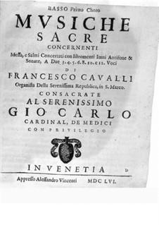 Musiche Sacre concernenti: Bass I part by Pietro Francesco Cavalli