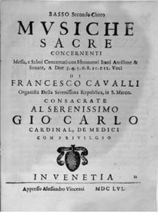 Musiche Sacre concernenti: Bass II part by Pietro Francesco Cavalli