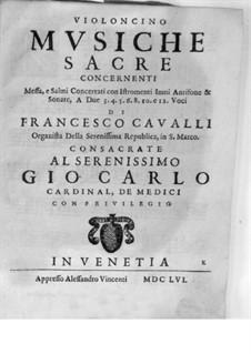 Musiche Sacre concernenti: Cello part by Pietro Francesco Cavalli