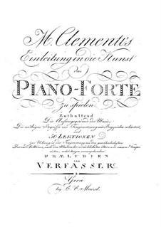 Introduction to the Art of Playing on the Piano, Op.42: For a single performer by Muzio Clementi