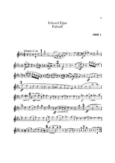 Falstaff. Symphonic Study, Op.68: Oboes and cor anglais parts by Edward Elgar