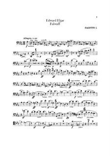 Falstaff. Symphonic Study, Op.68: Bassoons parts by Edward Elgar