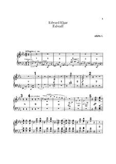 Falstaff. Symphonic Study, Op.68: Harps parts by Edward Elgar