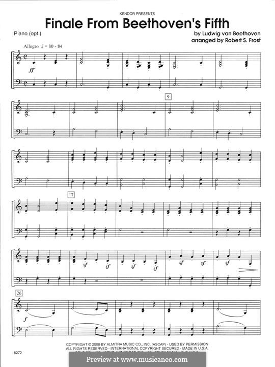Movement IV: For strings – Piano Accompaniment by Ludwig van Beethoven
