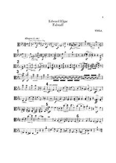 Falstaff. Symphonic Study, Op.68: Viola part by Edward Elgar