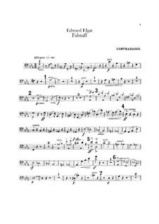 Falstaff. Symphonic Study, Op.68: Double bass part by Edward Elgar