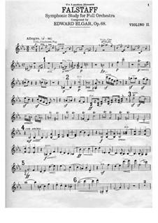 Falstaff. Symphonic Study, Op.68: Violin II part by Edward Elgar