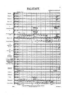 Falstaff. Symphonic Study, Op.68: Full score by Edward Elgar
