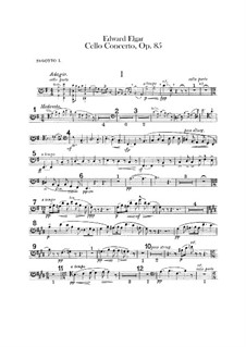 Concerto for Cello and Orchestra, Op.85: Bassoons parts by Edward Elgar