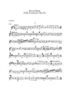 Concerto for Cello and Orchestra, Op.85: Trumpets parts by Edward Elgar