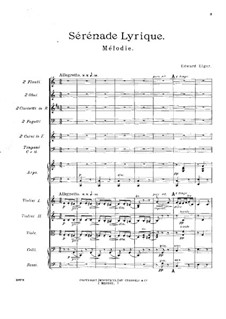 Sérénade lyrique: Full score by Edward Elgar