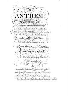 An Anthem for Christmas-Day: An Anthem for Christmas-Day by Joseph Ganthony