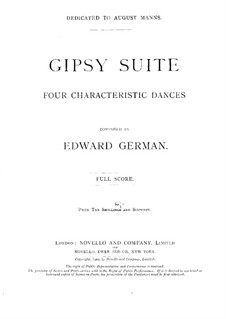 Gipsy Suite: For orchestra by Edward German