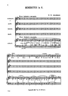 Benedictus in G Major: Benedictus in G Major by William Wallace Gilchrist