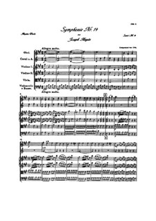 Symphony No.14 in A Major, Hob.I/14: Full score by Joseph Haydn
