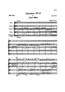 Symphony No.16 in B Flat Major, Hob.I/16: Full score by Joseph Haydn