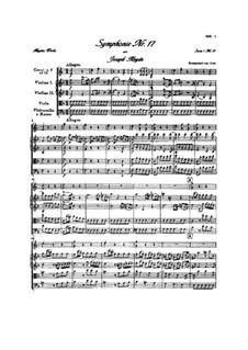 Symphony No.17 in F Major, Hob.I/17: Full score by Joseph Haydn
