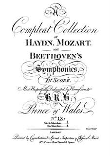 Symphony No.66 in B Flat Major, Hob.I/66: Symphony No.66 in B Flat Major by Joseph Haydn