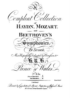 Symphony No.69 in C Major 'Laudon', Hob.I/69: Symphony No.69 in C Major 'Laudon' by Joseph Haydn