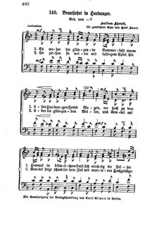 Brudefærden i Hardanger, HK 38: Vocal score by Halfdan Kjerulf