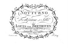 Nocturne for Viola and Piano in D Major, Op.42: Parts by Ludwig van Beethoven