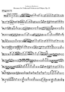 Romance for Violin and Orchestra No.2 in F Major, Op.50: Bassoons I, II parts by Ludwig van Beethoven