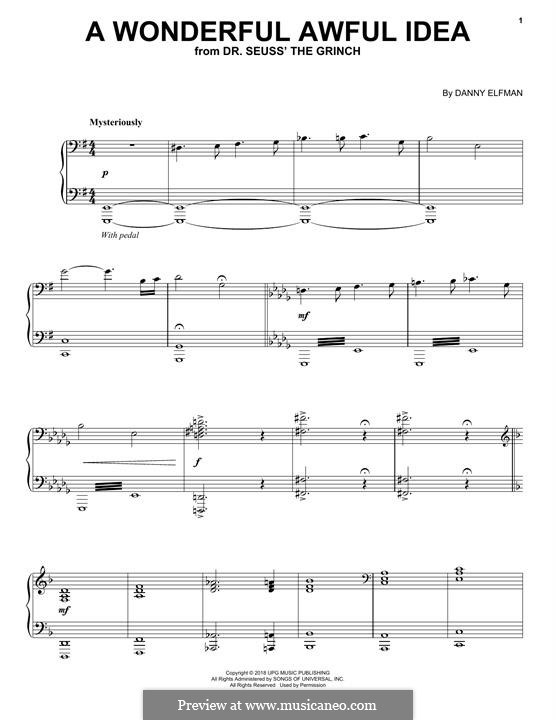 A Wonderful Awful Idea (from The Grinch): A Wonderful Awful Idea (from The Grinch by Danny Elfman