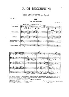String Quintets, Op.51: Quintet No.2 in C Minor, G.377 by Luigi Boccherini