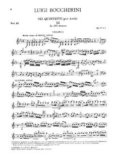 String Quintets, Op.51: Quintet No.2 in C Minor – violin I part, G.377 by Luigi Boccherini