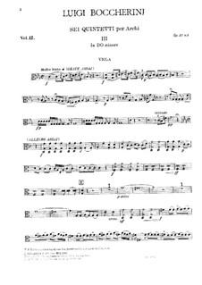 String Quintets, Op.51: Quintet No.2 in C Minor – viola part, G.377 by Luigi Boccherini
