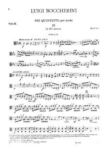 String Quintets, Op.51: Quintet No.2 in C Minor – viola II part (ad libitum), G.377 by Luigi Boccherini