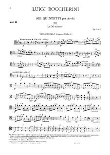 String Quintets, Op.51: Quintet No.2 in C Minor – cello I part, G.377 by Luigi Boccherini