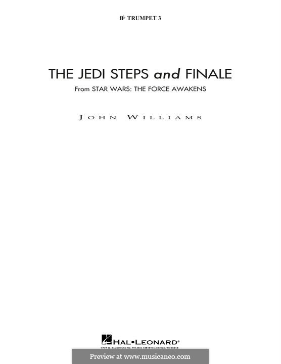 The Jedi Steps and Finale (from Star Wars: The Force Awakens): Bb Trumpet 3 (sub. C Tpt. 3) part by John Williams