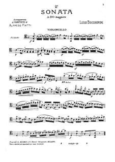 Sonata for Cello and Basso Continuo No.2, G.6: Solo part by Luigi Boccherini