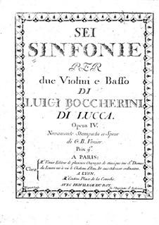 Six String Trios, Op.4: Violin I parts, G.83-88 by Luigi Boccherini
