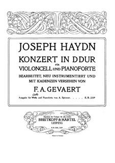 Concerto for Cello and Orchestra No.2 in D Major, Hob.VIIb/2: Solo part by Joseph Haydn
