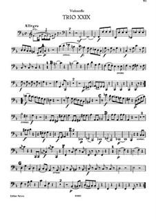 Piano Trio No.30 in F Major, Hob.XV/17: Cello part by Joseph Haydn