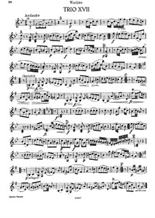 Piano Trio No.33 in G Minor, Hob.XV/19: Violin part by Joseph Haydn