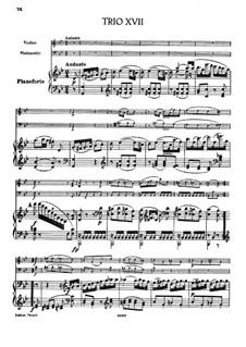 Piano Trio No.33 in G Minor, Hob.XV/19: Full score by Joseph Haydn
