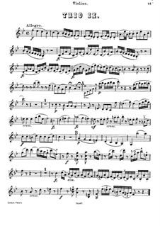 Piano Trio No.34 in B Flat Major, Hob.XV/20: Violin part by Joseph Haydn