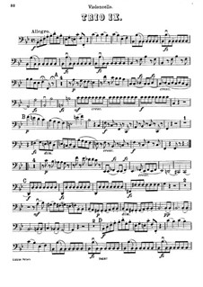 Piano Trio No.34 in B Flat Major, Hob.XV/20: Cello part by Joseph Haydn