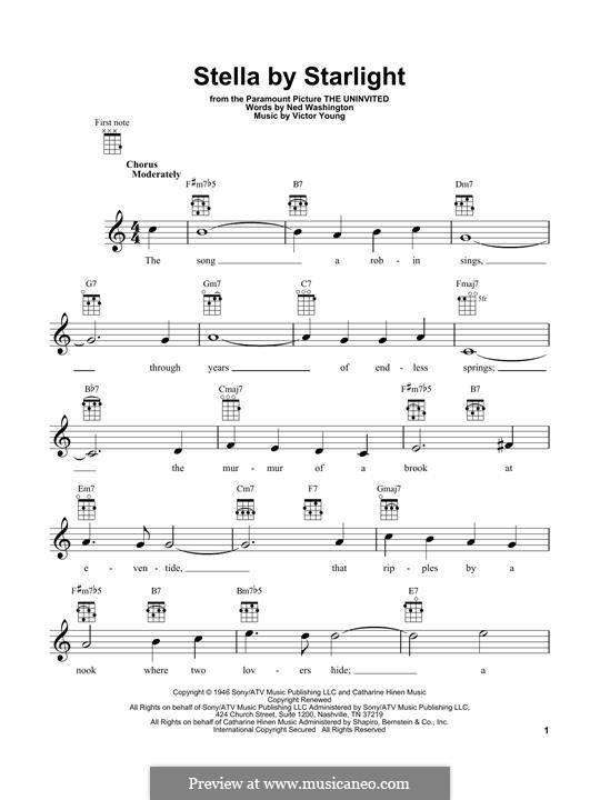 Stella By Starlight: For ukulele by Victor Young