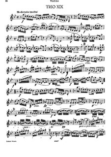 Piano Trio No.5 in G Minor, Hob.XV/1: Violin part by Joseph Haydn