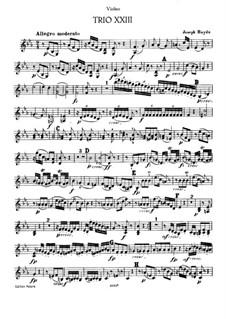 Piano Trio No.36 in E Flat Major, Hob.XV/22: Violin part by Joseph Haydn