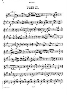 Piano Trio No.40 in F Sharp Minor, Hob.XV/26: Violin part by Joseph Haydn