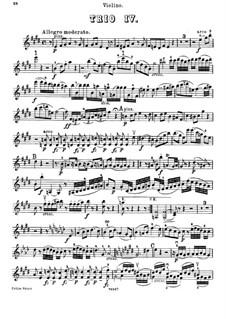 Piano Trio No.44 in E Major, Hob.XV/28: Violin part by Joseph Haydn