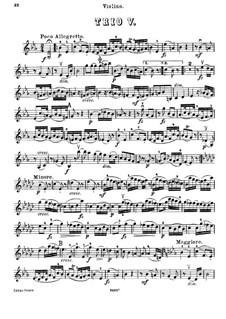 Piano Trio No.45 in E Flat Major, Hob.XV/29: Violin part by Joseph Haydn
