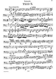Piano Trio No.45 in E Flat Major, Hob.XV/29: Cello part by Joseph Haydn