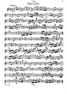 Piano Trio No.17 in F Major, Hob.XV/2: Violin part by Joseph Haydn