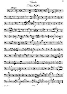 Piano Trio No.17 in F Major, Hob.XV/2: Cello part by Joseph Haydn
